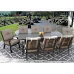 9pc Dining Set for 8 Person with Rectangle Table