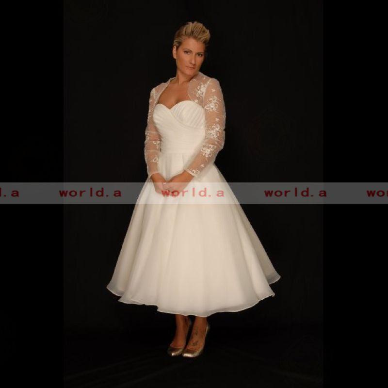 Wedding Decoration: Wedding Dresses Plus Size Tea Length