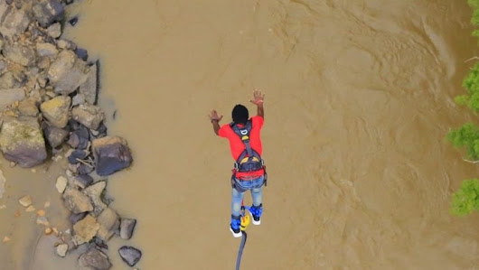 Bungee Jumping in San Gil - learn Spanish in EHE Spanish School