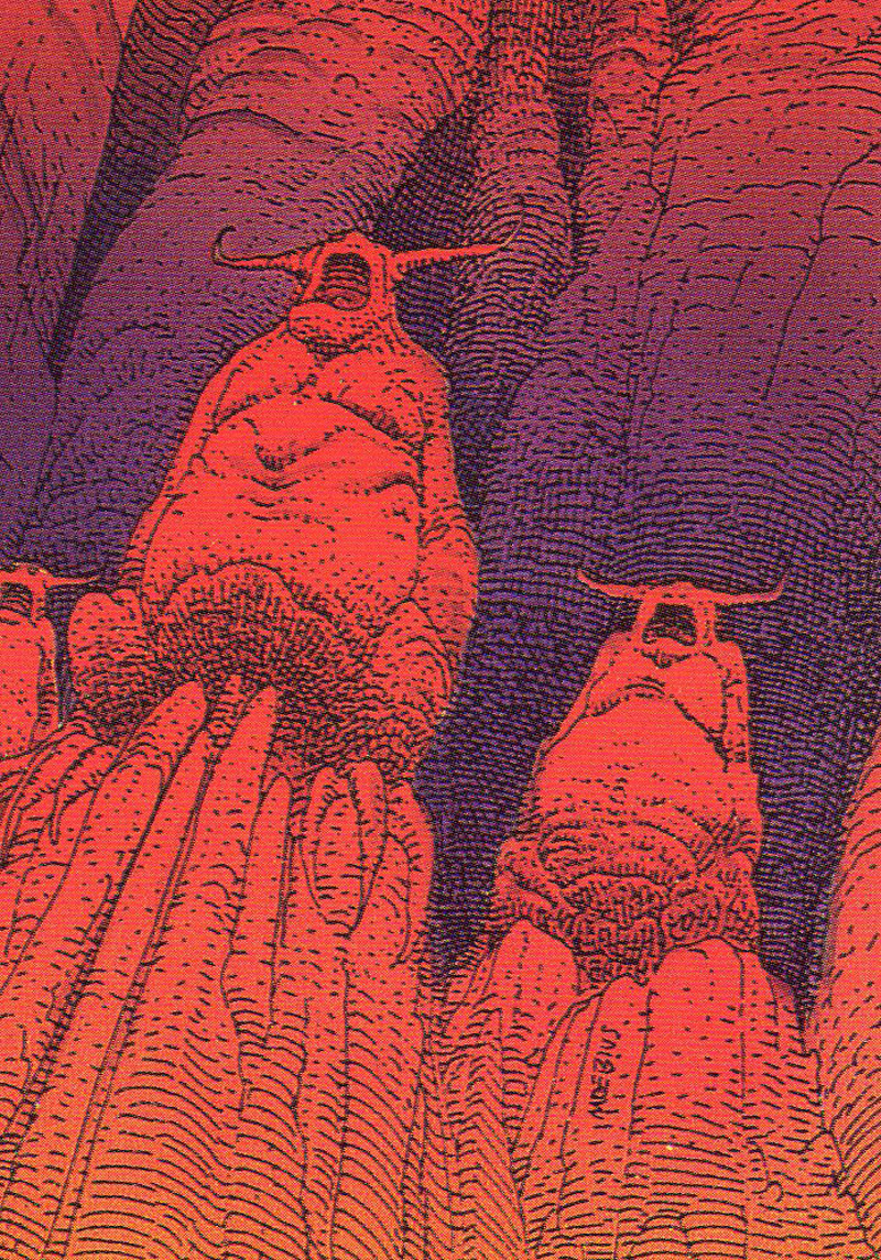 Moebius - Trading Card 66. The hyperspace gods