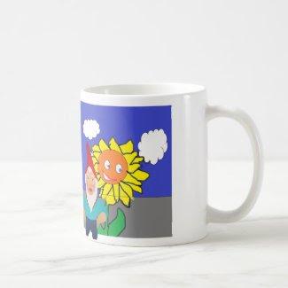 Gnome and Sunflower Mug