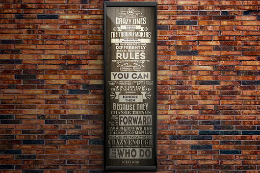 52% off Famous Steve Jobs Quote Typography Giclee Print