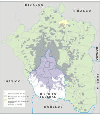 Greater Mexico City, extending to the states o...