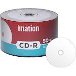 600 Imation 52x CD-R 80min 700MB White Inkjet Hub