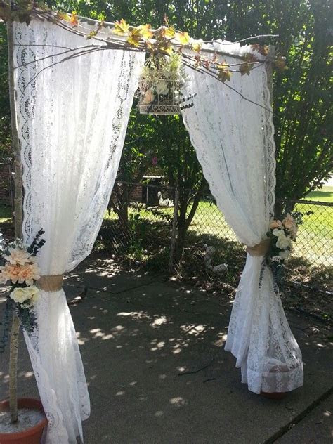Wedding arch I made for daughters wedding. Repurposed