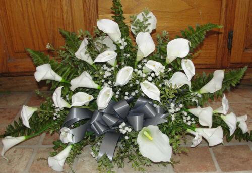 Home Garden Home Decor 4 Calla Lily Table Centerpieces Silk Flowers Petite Bouquet To Match Altar Arrg Home Garden Ojas Co Th