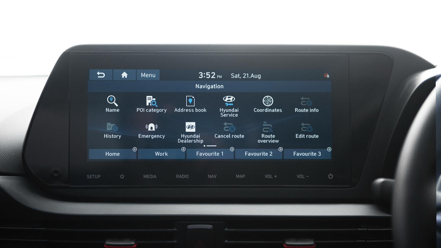 The 10.25-inch screen is legible in all conditions, and works seamlessly. Image: Hyundai