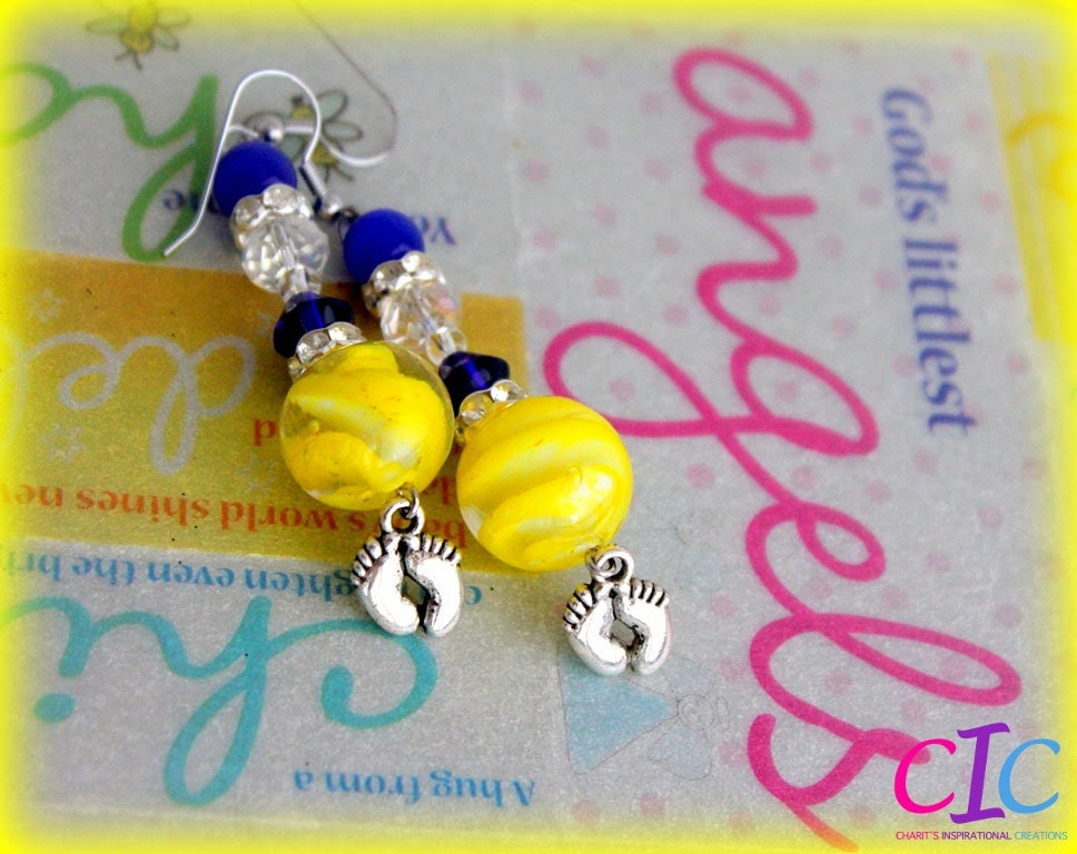 Blue and Yellow Down Syndrome Awareness Earrings