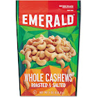 Emerald Roasted & Salted Cashew Nuts - 5 oz pack, 6/Carton