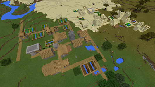 [PE 1.1] Regular Village + Desert Village at Spawn