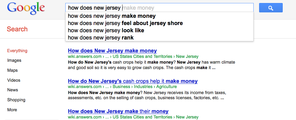 how does new jersey make money