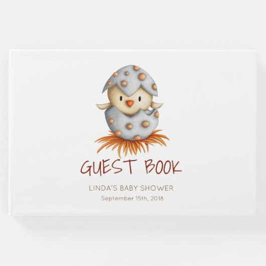 Bird hatching Baby Shower Guest Book