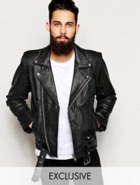 Reclaimed Vintage Leather Biker Jacket