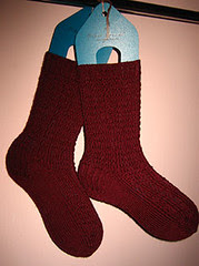 Cranberry Waffle Socks (truer color)