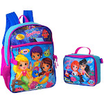 Splashlings Backpack with Insulated Lunchbox Purple