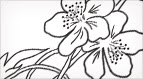 A Slender Flower: Free Embroidery Pattern