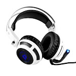 Professional PC Gaming Headset with Mic - USB Headphones and Microphone for Windows Mac Computer Games - 7.1 Virtual Surround Sound Audio