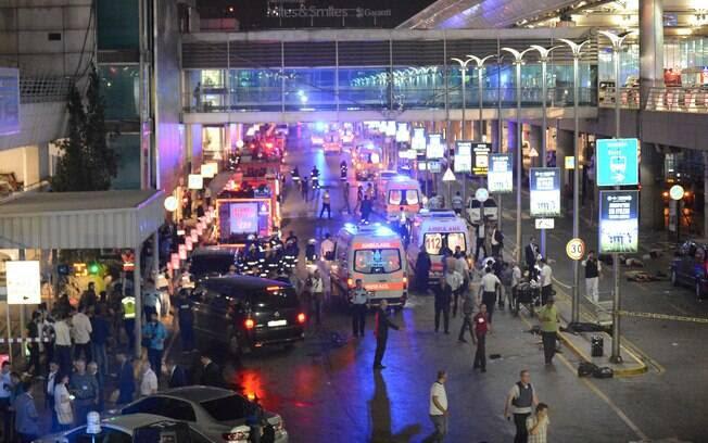 O Aeroporto internacional de Ataturk, em Istambul, na Turquia, é o terceiro maior da Europa