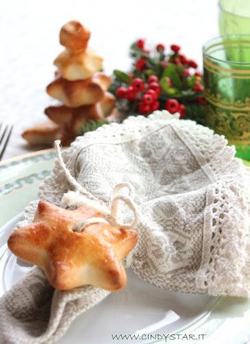 alberino e stelle di pane