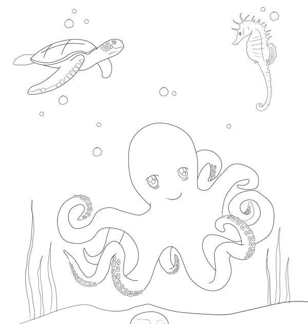 unterwasserwelt ausmalbilder zum drucken