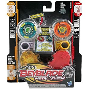 Beyblade Metal Fusion - Duo Pack - [Rock Leone and Flame ...