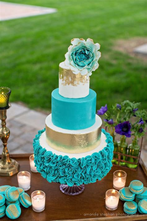 Best 25  Teal cake ideas on Pinterest   Aqua cake, Teal