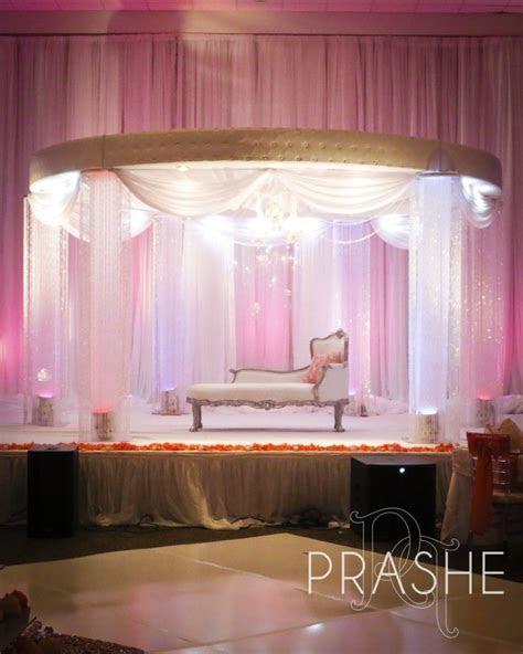 Love Prashe Decor!!! Gorgeous and elegant wedding stages