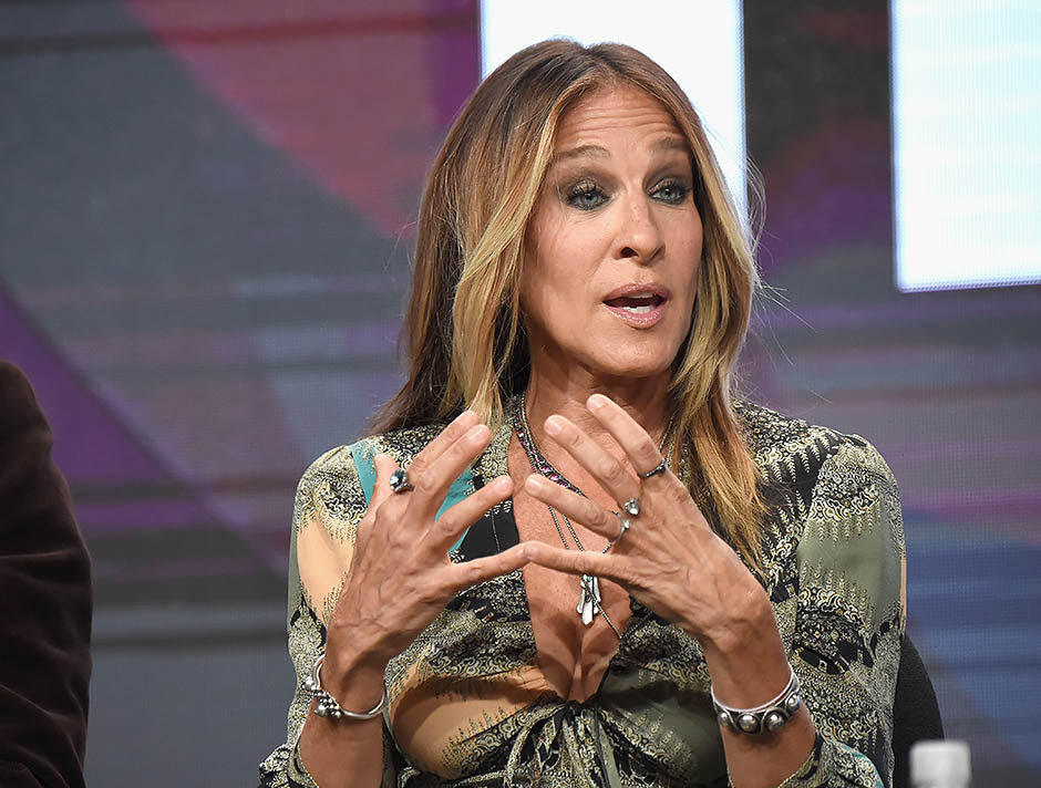BEVERLY HILLS, CA - JULY 30:  Executive producer/actress Sarah Jessica Parker speaks onstage during the 'Divorce' panel discussion at the HBO portion of the 2016 Television Critics Association Summer Tour at The Beverly Hilton Hotel on July 30, 2016 in Beverly Hills, California.  (Photo by Jeff Kravitz/FilmMagic)