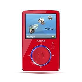SanDisk Sansa Fuze 4 GB Video MP3 Player (Red)