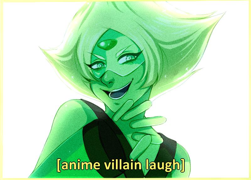 Peridot: half cryptid, half anime villain