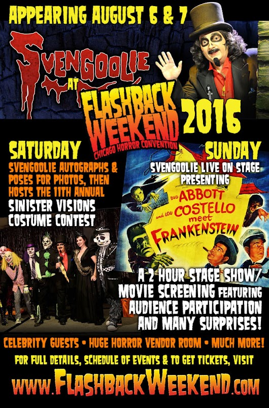 Svengoolie Live Saturday & Sunday at Flashback Weekend 2016!