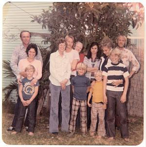 Family gathering. San Diego, California, USA, ...