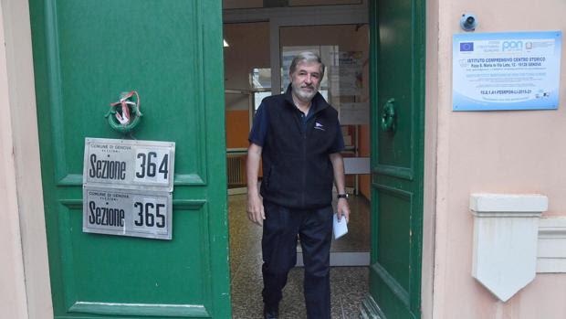 Marco Bucci, vencedor en las elecciones a la alcaldía de Génova