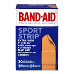 Band-Aid Adhesive Bandages Sport Strip Extra Wide - 30 Ct