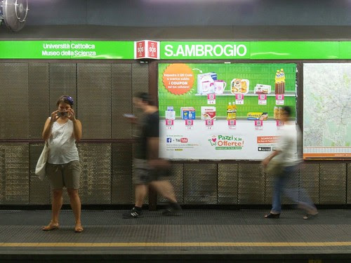 All fermata di #metro Sant Ambrogio by Ylbert Durishti