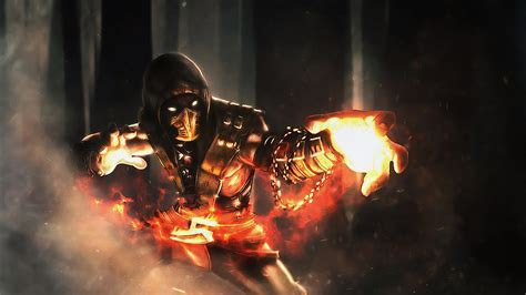 Scorpion Art Mortal Kombat X Game Ni  Wallpaper #17136
