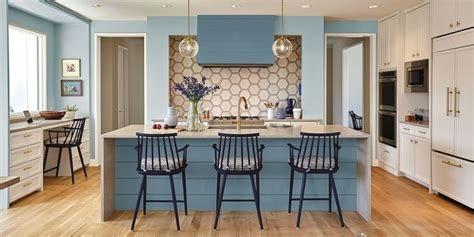 Blue Brown White Kitchen Ideas