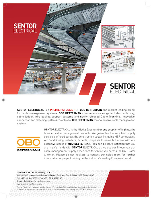 Sentor electrical obo bettermann advert