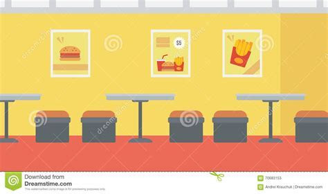 Background Of Fast Food Restaurant. Stock Vector