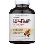 American Health - Super Papaya Enzyme Plus Chewable - 360 Chewable Tablets