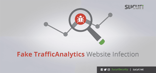 WordPress Security - Fake TrafficAnalytics Website Infection