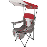 Kelsyus Premium Canopy Folding Chair, Red