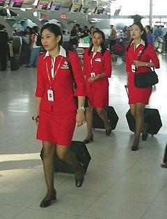 Asian flight attendants