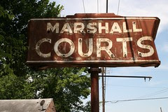 marshall courts neon sign