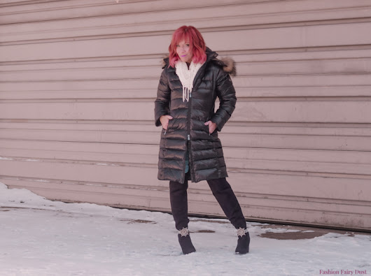 Puffer Coat & Flannel Shirt: The Good Side Of The News - Fashion Fairy Dust