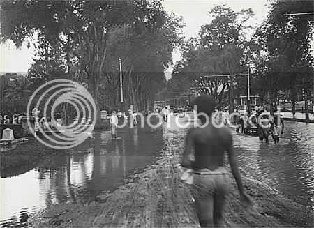 Banjir di Jalan Merdeka Barat.