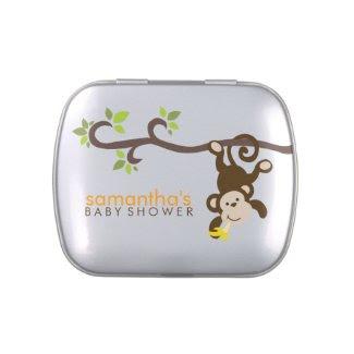 Playful Monkey Baby Shower Jelly Belly Tin