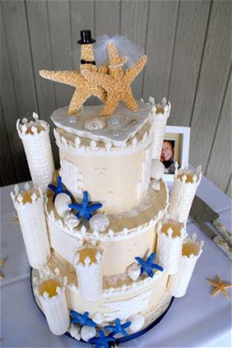 Sandcastle Wedding Cake   LoveToKnow