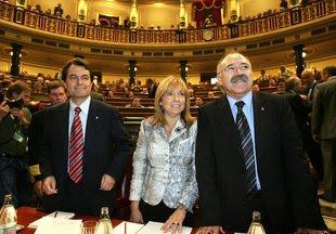 Els ponents que van defensar l'últim Estatut al Congrés Foto: ARXIU.