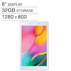 """New Samsung Galaxy 8"""" Tab A Wi-Fi Tablet 32GB - Silver - Includes Bonus 32GB microSD Card"""